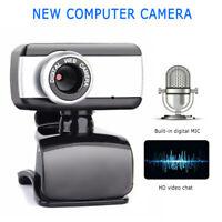 480P USB HD Zoom Webcam+Microphone Web Camera Cam For Mac/PC/Desktop/Laptop Hot