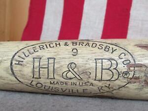 """Vintage Hillerich & Bradsby Wood Baseball Bat Mickey Mantle Model Yankee HOF 35"""""""