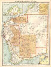 1907  LARGE ANTIQUE MAP - AUSTRALIA - WESTERN AUSTRALIA, SHOWING THE GOLDFIELDS