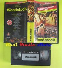 VHS WOODSTOCK JOE COCKER JOAN BAEZ WHO JANIS JOPLIN MUSIC MOVIE no dvd cd (VM9)*