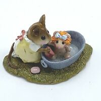Wee Forest Folk Miniature Figurine Rub-a-Dub Dolly M 301 Mice in the Outdoors
