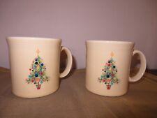 SET OF 2 FIESTAWARE HOMER LAUGHLIN CHRISTMAS TREE MUGS CUPS