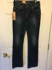 Silver Jeans Co. Suki Juniors Mid Rise Slim Boot Blue JeansStretchy Size W26 L33