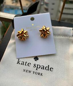 Kate Spade New York Gold Bourgeois Bow Stud Earrings
