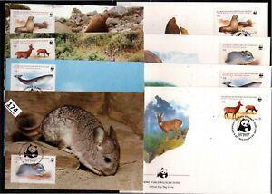 /// CHILE 1984 - 4 FDC+MC - WWF - ANIMALS, SEA LION, WHALE
