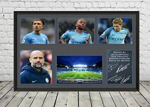 Manchester City Man City Signed Photo Print Poster Football Memorabilia