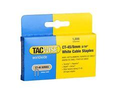 Tacwise ct45 8mm Cable Grapadora De Grapas, 1,000 Por Caja, se adapta a mayoría Cable tackers
