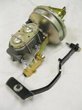 "Ford Mercury 9"" Brake Booster + Master Cylinder Disc Drum Valve Kit & Pedal Arm"