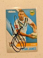 ✺Signed✺ 2017 Traders Ryan James (Gold Coast Titans) NRL Rugby League card