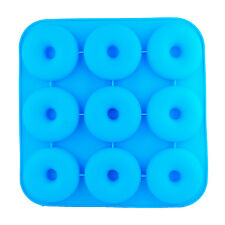 Silicone Donut Baking Pan Mold 9 Cavity Non-Stick For Microwave Freezer Oven B