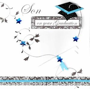 Son On Your Graduation Congratulations Greeting Card Special Handcrafted Cards