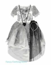 HALLOWEEN Bride Of Dracula Corpse Ghost Princess Witch Dress Fancy Costume 3-4