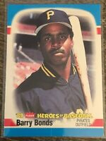 1989 Fleer Heroes of Baseball Pittsburgh Pirates #3 Barry Bonds - GEM MINT