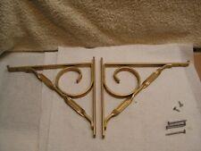 Vintage Scroll Gold Tone Aluminum Metal Shelf Bracket For 8 Shelf Withhdrware