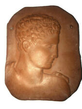 Vintage Greece Clay Tablet Plaque Carved Ancient Sculpture Artwork Wall Hanging