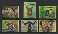 Monkeys Mint NH Imperforate Set of 6 Ajman Complete $4.50 Retail Value