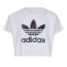 Magliette, maglie e camicie bianche adidas con girocollo per bambini dai 2 ai 16 anni
