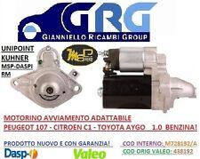 MOTORINO AVVIAMENTO ADATTABILE MSP CITROEN C1 -PEUGEOT 107- T. AYGO 1.0 BENZINA