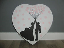 ♥ Herz Leinwand Hochzeit Fingerabdruck  Gästebuch Wedding Tree Hochzeitsspiel