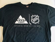 Coors Light Official Beer of the NHL National Hockey League Mens XL T Shirt New