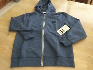 Billabong Aged 10 All Day Blue Zipped Hoodie.                        e