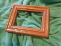 """Lovely Vintage Small Hard Wood Oak Picture Frame Photo 3.5""""×2.5"""""""