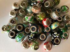 MURANO GLASS EUROPEAN BEADS 925 SILVER CORE FITS MOST EUROPEAN BRACELETS