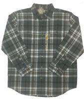 Carhartt Mens Original Fit Long Sleeve Plaid Shirt Size XL-2XL Grey