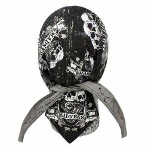 Madness Bandana Biker Do rag Head wrap Skull cap Doo rag Capsmith Du rag Hat