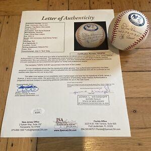 + Yogi Berra & Don Larsen Signed Baseball JSA Certified 1956 WS Perfect Game