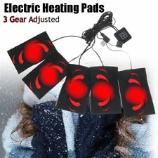 5pcs USB Electric Heater Pad Heating Element Heated Thermal Coat Body Warmer US