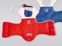 WACOKU Taekwondo Wendeweste WTF zugelassen. Schutzweste