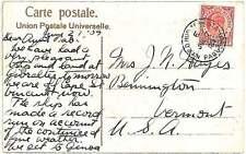 POSTAL HISTORY -  GIBRALTAR  : POSTCARD to USA 1909