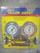 Yellow Jacket Gauge Set 2 Valve Manifold R134a R507 R404a Model 41312