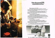 PUBLICITE  1972   SEB  yaourtière (2 pages)