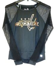 Girls Washington Capitals Hockey Black and Gold Size Medium M Shirt 4d7f0e283