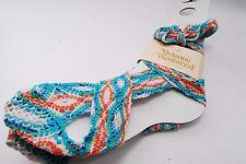 Authentic Vivienne Westwood Tie Bow Rope Blue Orange Orb Socks 23-24 cm #515
