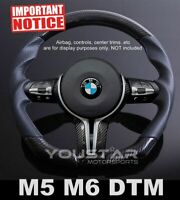 Genuine CARBON Leather M-Sport DTM Steering Wheel for BMW M5 M6 F10 F12 F06 F07
