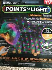 Gemmy Light Show Points of Light Halloween Projector with Wireless Remote New