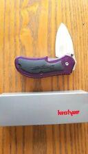 Kershaw 'Snap on Chubby' Folding Knife 1440Cpu Clear Purple Handle