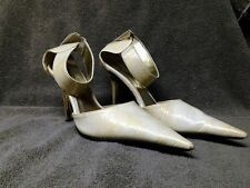 Wild Rose Halle Cream/White Patent Leather Faux Alligator Gloss Pointy Toe Heel