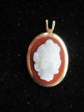 Cameo Pendant Simple and Elegant Antique 14K Gold and Carved