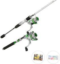 Usdox Fishing Rod Kit Combos Carbon Rod Line Lures Metal Reel Salt/Fresh Water