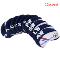 10Pc/set Golf Club Iron Head Cover Protector Neoprene Golf Protective Headcover-