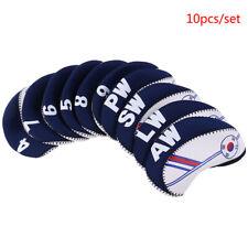 10Pcs/set Golf Club Iron Head Cover Protector Neoprene Golf Protective Headco_QA