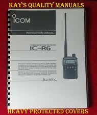 High Quality Icom IC-R6 Instruction Manual on **32 LB Paper** C-MY OTHER MANUALS