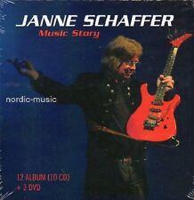BOX JANNE SCHAFFER MUSIC STORY,10 CD + 3 DVD,schwedisch, NEU