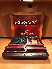 SCRABBLE 50TH ANNIVERSARY CROSSWORD GAME W/TURNTABLE BLUE TILES