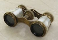 ANTIQUE Mother of Pearl Binoculars/Opera Glasses Marchand, Paris, Made in France