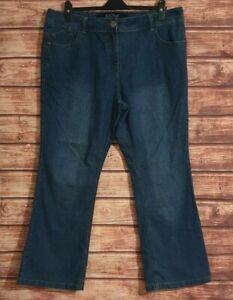 Ladies Jeans Size UK18 EU46 Bootcut Stretch Cotton BLUE Denim Women's 29L 40W